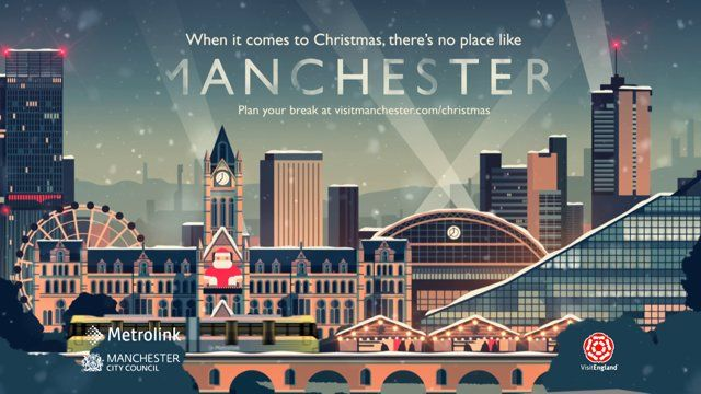 This year we're very proud to have made the Manchester Christmas advert for M-Four and Marketing Manchester. Using Owen Davey's posters as a starting point, we designed and built our version of Manchester at Christmas. It will be showing on ITV from November 11th. We hope you like it. CREDITS: Directed by: Sam Jones Producer: Jon Turner Character Design: Emma Reynolds and Sam Jones Background Design: Kristian Duffy and Owen Davey 2D Animation: Sam Jones, Jonathan ...