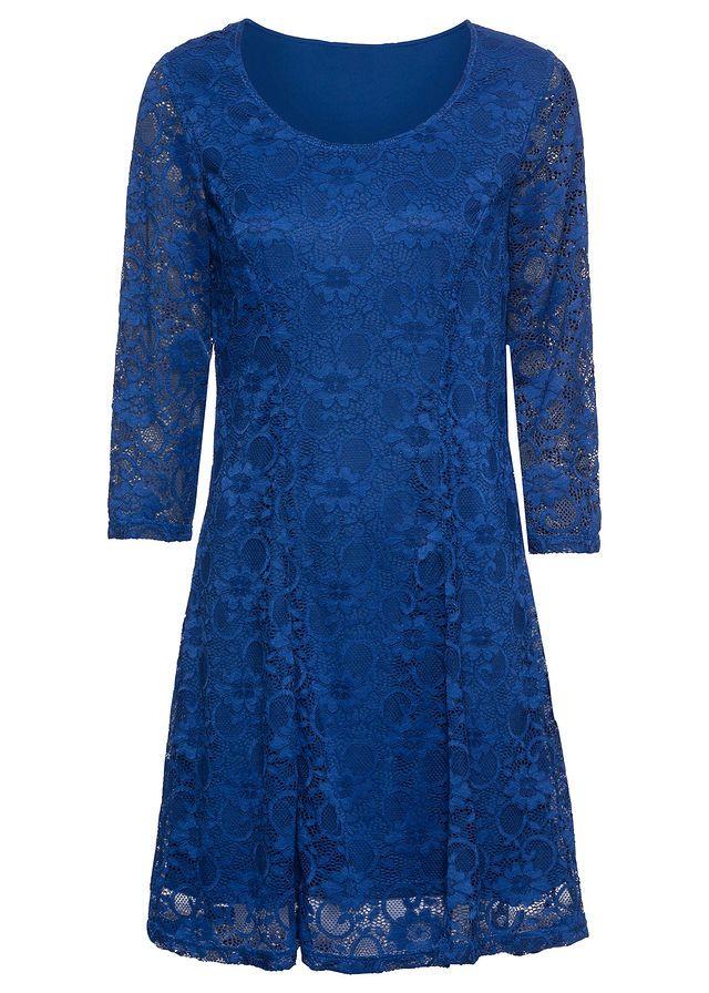 701f46f3ca Sukienka z koronką • błękit królewski • bonprix sklep