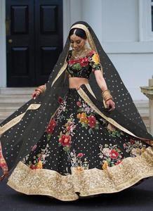 129c9e2a0048 Buy Online Designer Wedding Art Silk Fabric Black Lehenga Choli SF0574 |  Cocktail Lehenga | Black lehenga, Lehenga, Lehenga choli