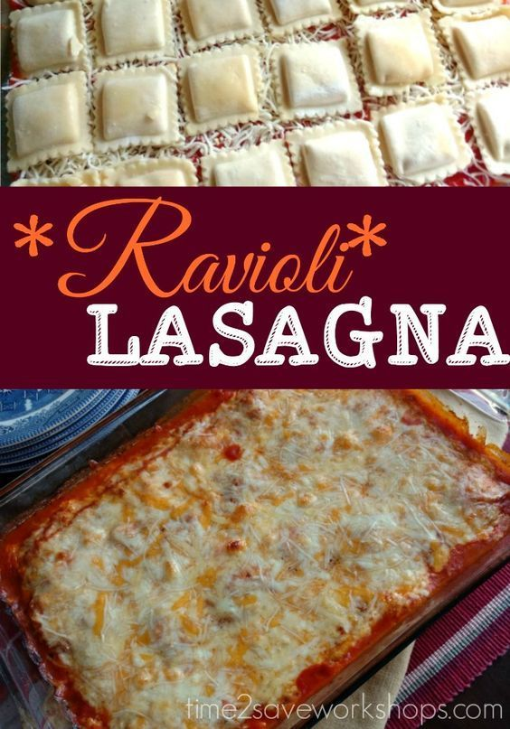 Ravioli Lasagna recipe.  If you love cheese and pasta, you have got to try this deliciously cheesy meal for dinner!