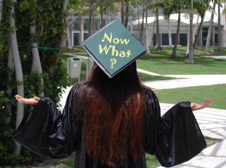 graduation cap decoration - NOw what