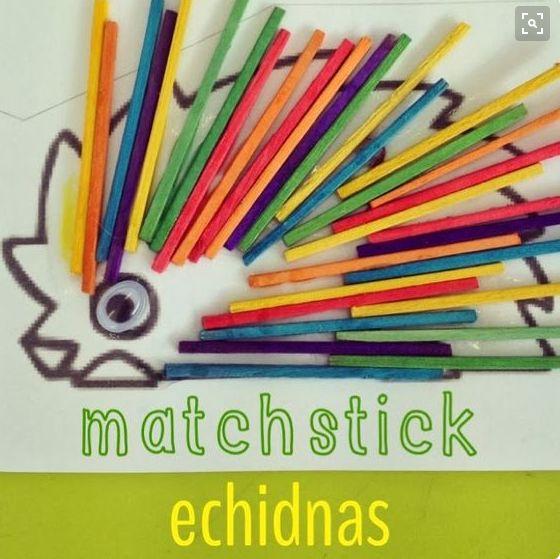 Baby Dance Toddler Craft: Matchstick Echidna #babydance