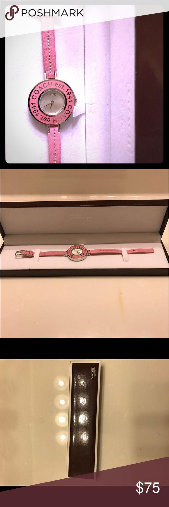 Coach watch Women's pink coach watch Coach Accessories Watches