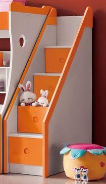 Лестница с выдвижными ящиками Лестница с выдвижными ящиками (в ступеньках) - рекомендуется для дополнительной комплектации кровати 250-602-11