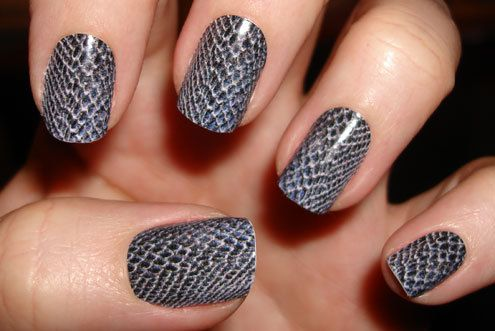 Why would you ever pay $300 and spend two hours getting real snake skin put on your nails when you can fake it so easily?  http://www.hulu.com/watch/241822/nbc-today-show-knockout-nails-300-snakeskin-manicure