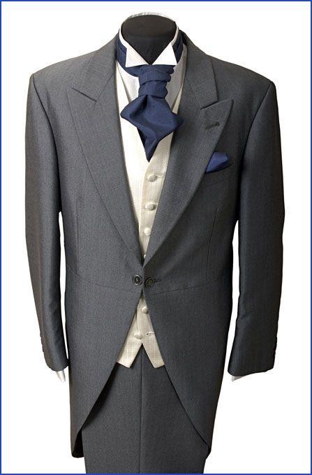 Complete Wedding Hire Package £64 #greytail #navycravat #creamwaistcoat #wingcollarshirt #wedding #weddinghire #groomsmen #harveyshire #formalhire