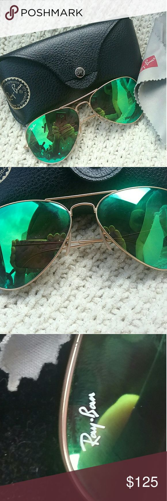 Ray Ban 3025 aviator Sunglasses Beautiful Ray-Ban sunglasses style 3025 in good condition. Light superficual scratches. Damage to the outside flap on the sunglasses case as shown Ray-Ban Accessories Sunglasses