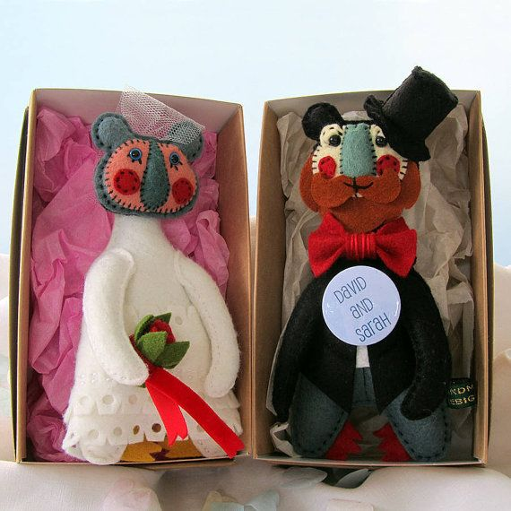 Personalised Wedding Gift Handmade Art doll Bears by TheBigForest, £69.00