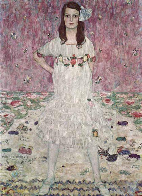 Портрет Евгении Примаверси :: Густав Климт - Gustav Klimt (Климт Густав )