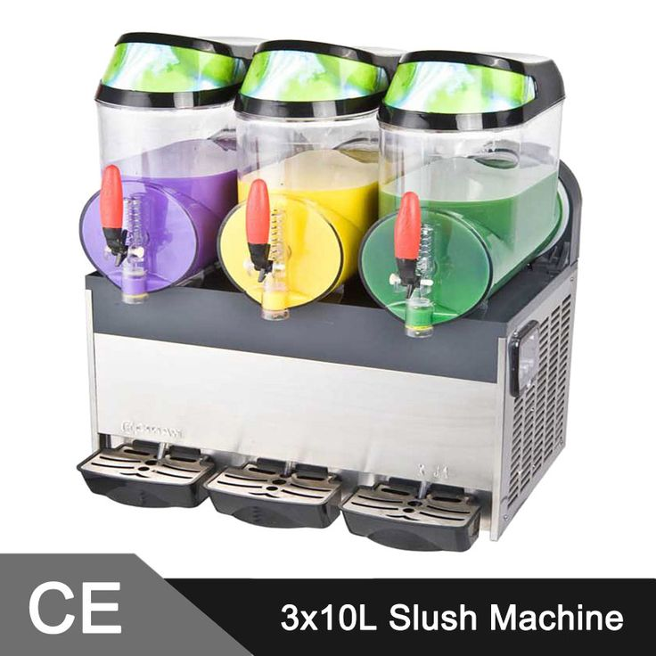 10L Triple Tank Commercial Countertop Electric Slush Machine for sale