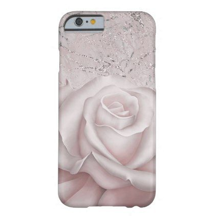 Blush White Rose Glam Modern Marble Shabby Chic Barely There iPhone 6 Case - glam gifts unique diy special glamour