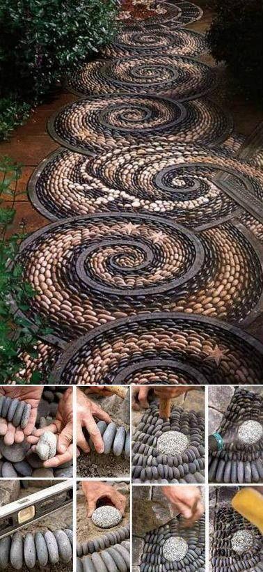 DIY Beautiful Garden Stone Pathway