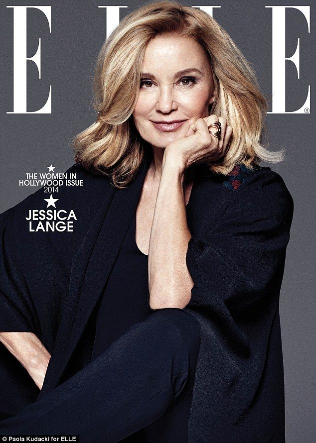 Fierce after 60! Two-time Oscar winner Jessica Lange is one of eight actresses appearing on separate covers of ELLE's Women In Hollywood issue
