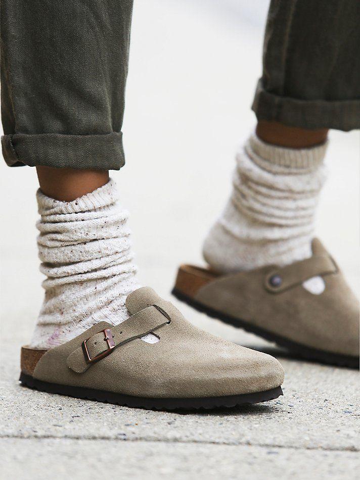 Winter walking the dog shoes....Free People Boston Birkenstock