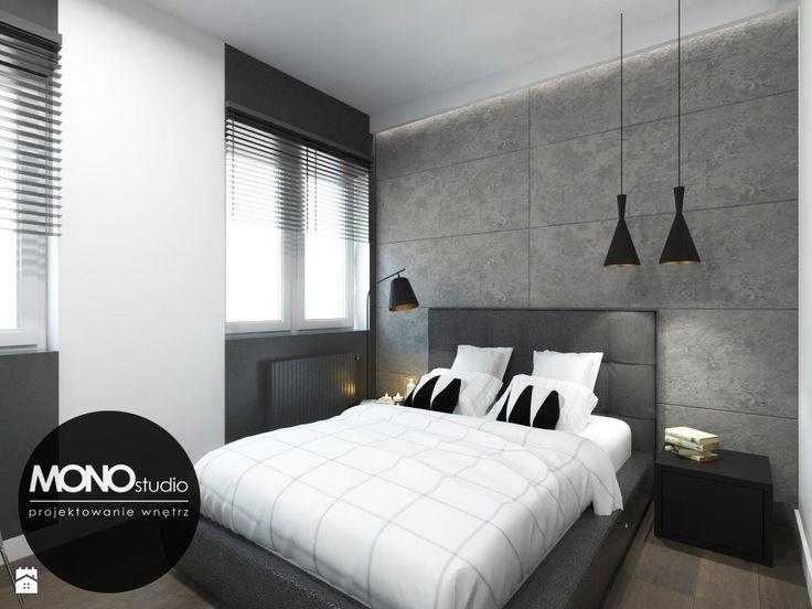 Oryginalna i nowoczesna sypialnia z akcentem. - zdjęcie od MONOstudio - Sypialnia - Styl Nowoczesny - MONOstudio