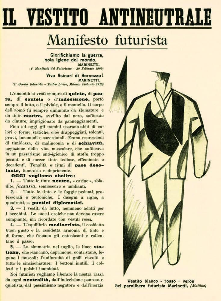 Giacomo Balla, il vestito antineutrale, 1914