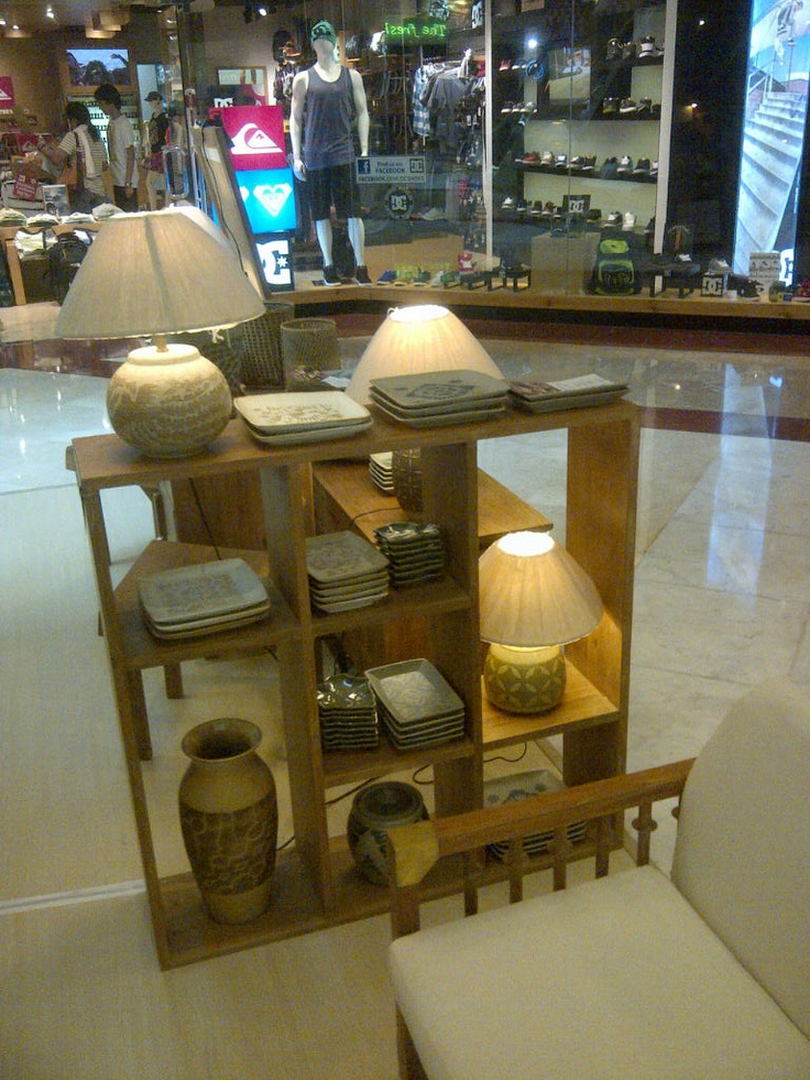 Minimalist teak wood book rack  display, 100 x 30 x 100