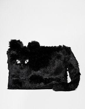 Enlarge New Look Halloween Furry Cat Clutch Bag