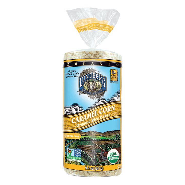 Organic caramel corn rice cake lundberg family farms