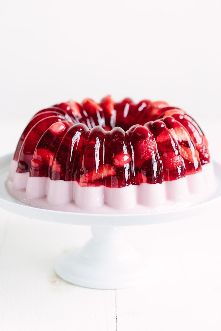 How to make a layered jello mold recipe with any fruit! We like strawberries and other fresh summer fruit for this classic EASY no bake recipe. Perfect for summer bbqs and potlucks!