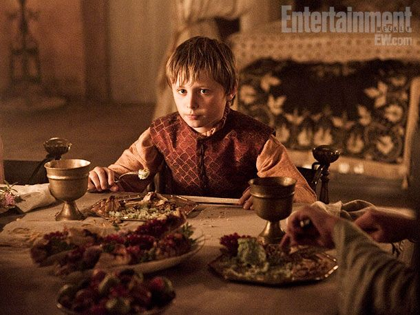 Tommen Baratheon (Callum Wharry) Game of Thrones season 2
