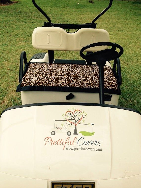 Golf Carts - Golf Cart Seat Cover by PrettifulCovers on Etsy