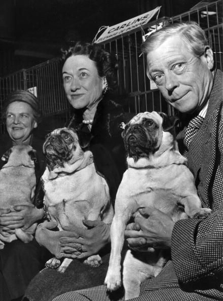 "Edward Prince of Wales ""David"" & Wallis Simpson, later Duke & Dutchess of Windsor...Dog days."
