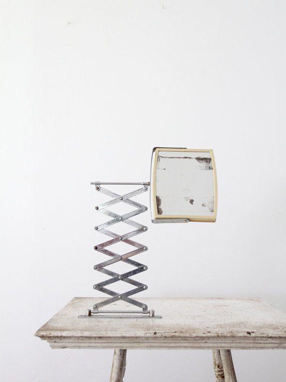 vintage extendable mirror / 1960s wall mounted vanity mirror / annajay mirror