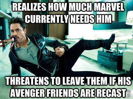 I love Iron Man Movies so much! Robert Downey Jr. is an amazing Actor!!