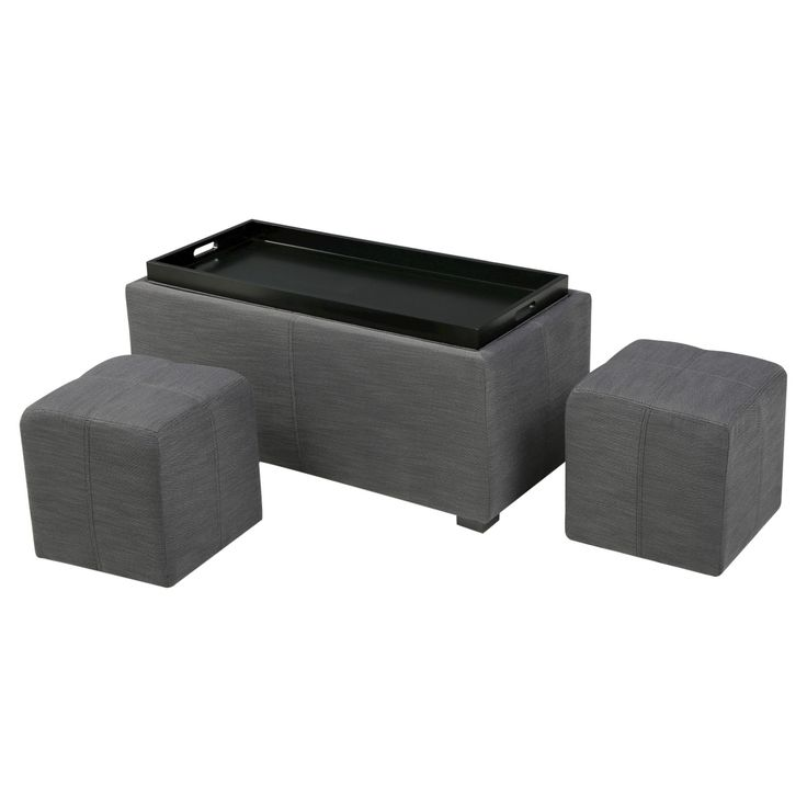 Look no further to solve your storage needs that the Christopher Knight Home Drake Tray Top Ottoman, featuring a storage ottoman that comes with two smaller non storage ottomans stored inside the ottoman. Not only can you put your feet up on the two smaller included ottomans, but you can also enjoy the beauty of a clean, clutter free coffee table, knowing that your board games, remotes, and anything else previously occupying valuable coffee table real estate is now safely tucked away in the…