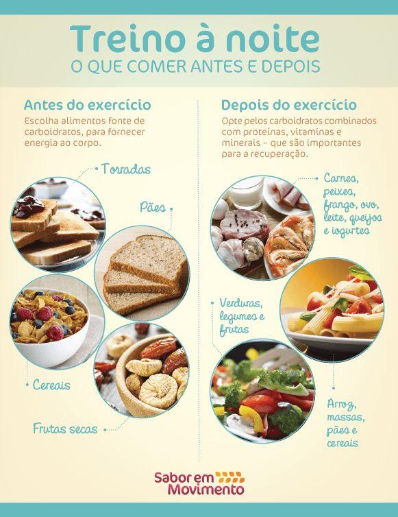 O que comer antes e depois do treino à noite
