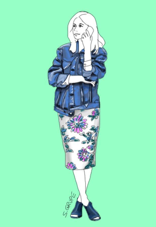 Sommer-Outfits, die mit dem 1-2-3-Trick zusammengestellt wurden, wirken immer interessant und dennoch stimmig.  Manchmal streife ich durch das Internet und bleibe plötzlich an einem Foto hängen, das m