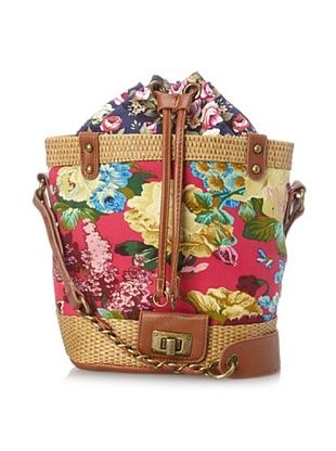 40% OFF Nila Anthony Women's Floral Bucket Bag, Fuchsia