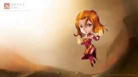 Dota 2 Chibi Lina Slayer Girl HD Wallpaper Virtualman209