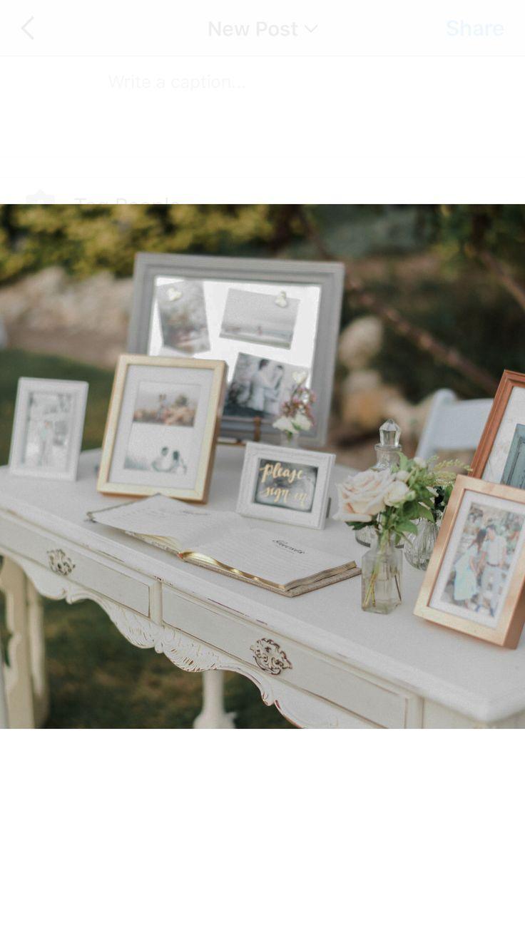 Miscellanea sign in table for garden wedding