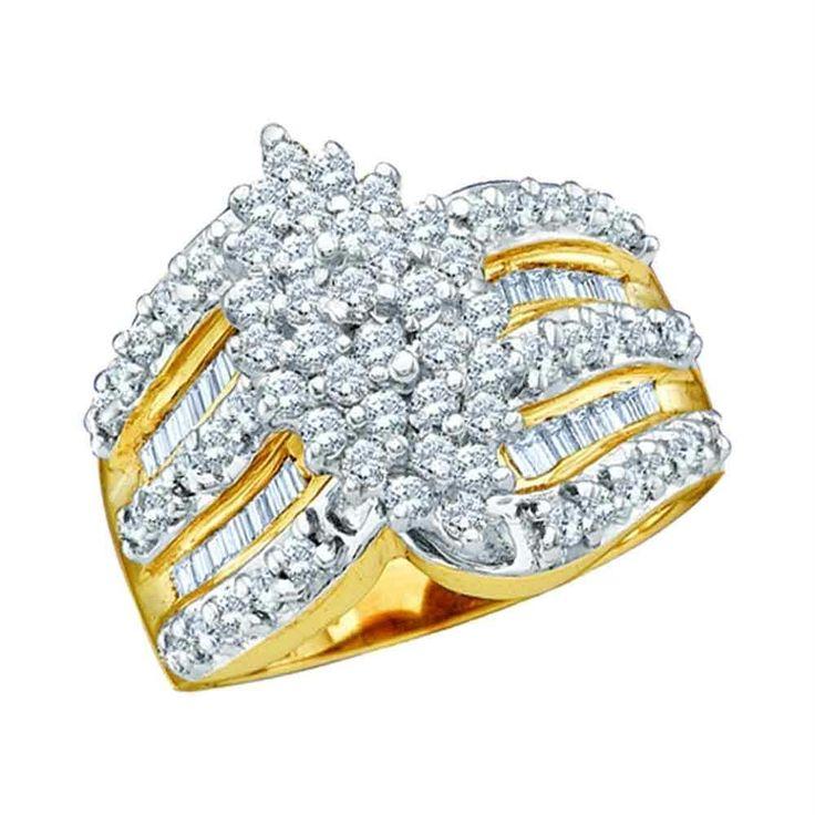 Beautiful multi-diamond real gold ring ... #jademoghul
