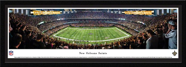 New Orleans Saints Panoramic Picture - Mercedes-Benz Superdome - Select Frame $149.95