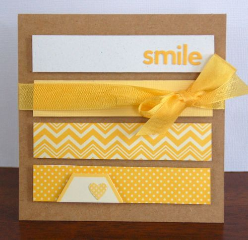 Great way to use all those scraps I have! Smile...By:scrapbookandcardstodaymag