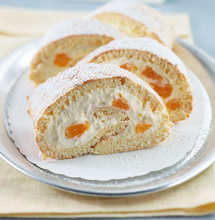 Rezept für Mandarinen-Sahne-Rolle bei Essen und Trinken. Ein Rezept für 8 Personen. Und weitere Rezepte in den Kategorien Eier, Getreide, Milch + Milchprodukte, Obst, Party, Brunch