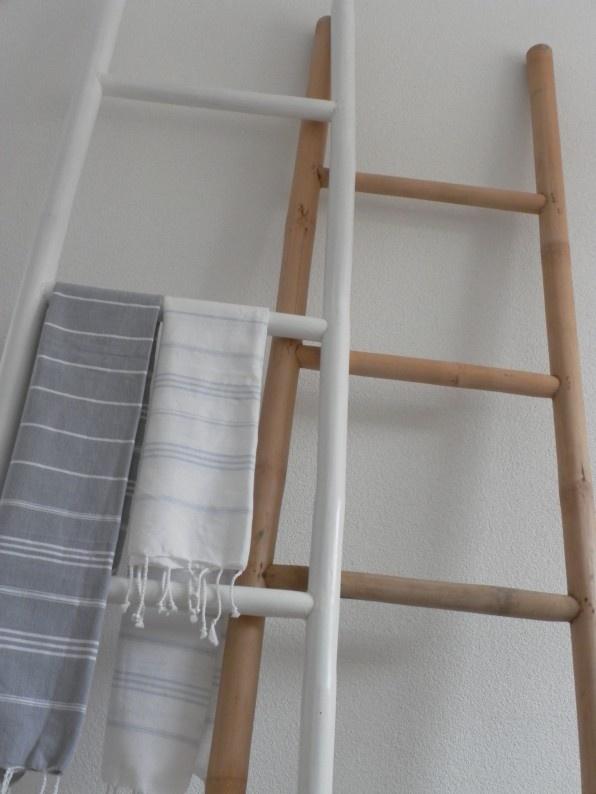 Badkameraccessoires Geel ~ dan 1000 idee?n over Bamboe Ladders op Pinterest  Bamboe, Ladder