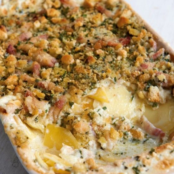 Kartoffel-Steckrüben-Gratin