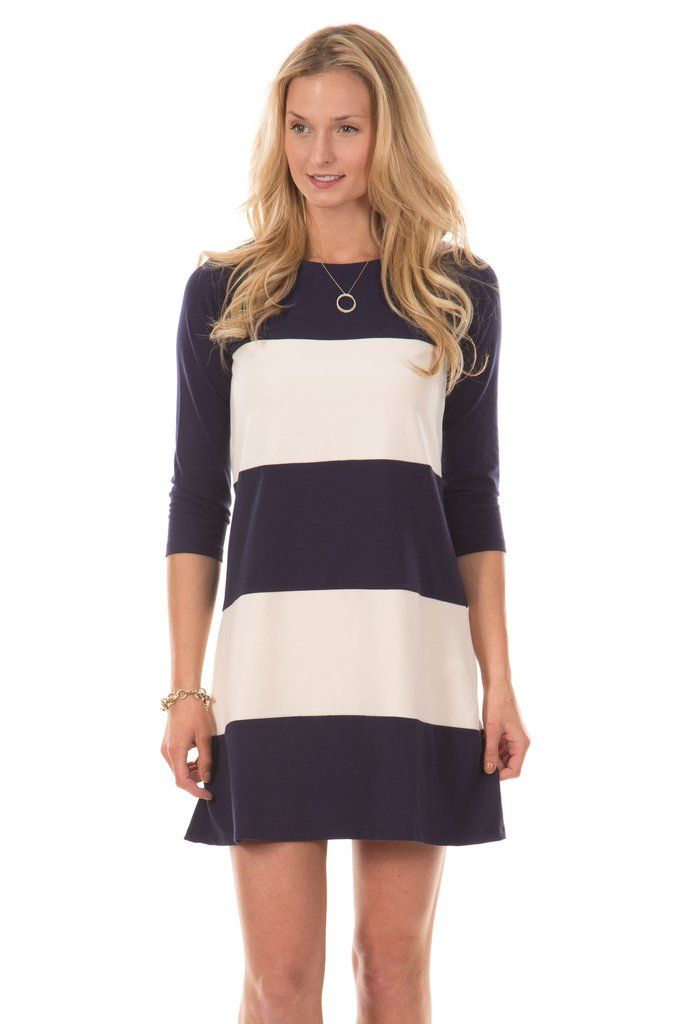 Color block stripes never looked so slimming! The Camden, with its relaxed fit and strategically spaced stripes, is a definite closet staple. Dress it up or down, the Camden looks chic with everything