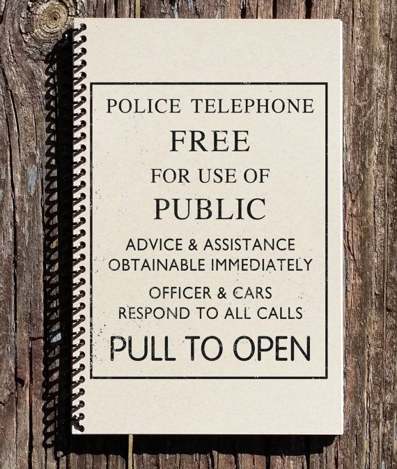Doctor Who Police Journal  Doctor Who portable par CulturalBindings