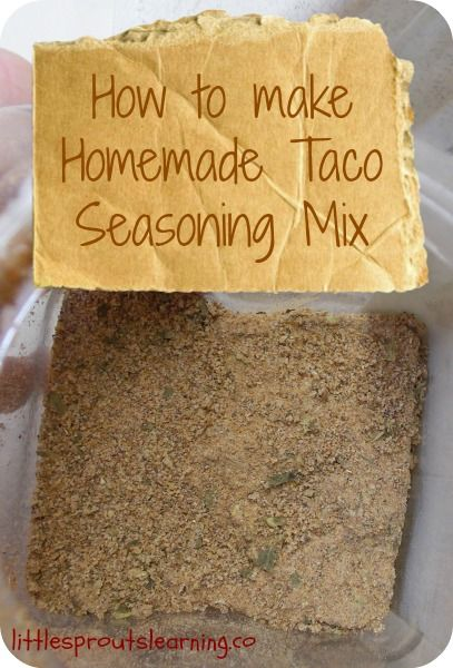 How to make Homemade Taco Seasoning Mix.  Inexpensive, easy, and healthy and chemical free!