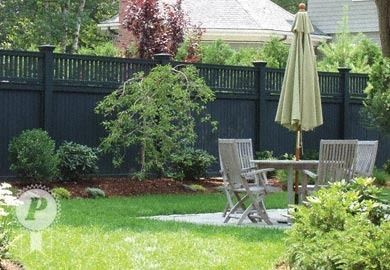 Black wood fence instead of white? I'll take it!  This look pretty much rocks my socks and turns the fence into a perfect backdrop!
