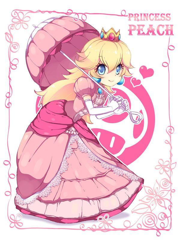 Princess Peach Tags: Anime, Fanart, Nintendo, Super Mario Bros., Pixiv