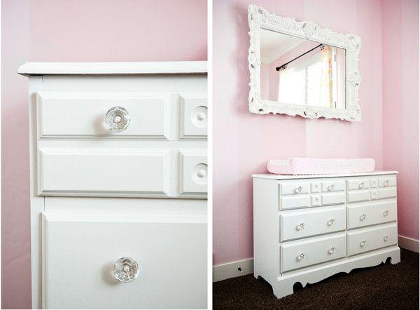 White Dresser With Crystal Knobs Lyras Room Pinterest Dresser