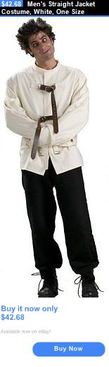 Men Costumes: Mens Straight Jacket Costume, White, One Size BUY IT NOW ONLY: $42.68
