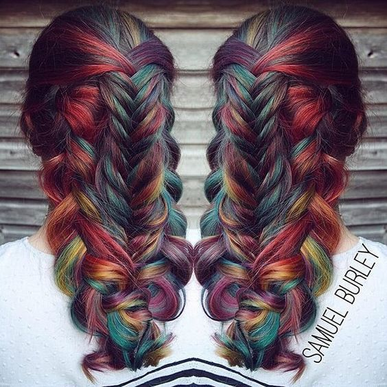 #1000orbust  Our second featured artist is @samyuwel This rainbow braid is amazing! Check out his awesome page and show him some love! ❤️ Sponsored by: @hotonbeauty @hairitagesaloncarlsbad @nothingbutpixies @mermaidians @hairgod_zito @jaywesleyolson @lalasupdos