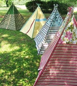 Handmade tents for children to play with. by maura